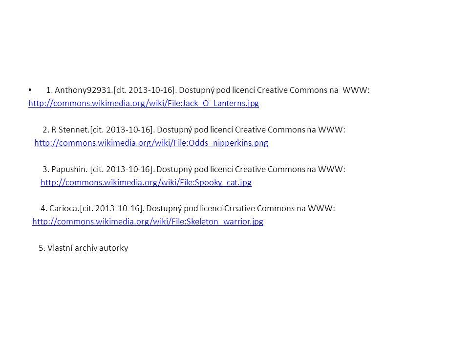 1. Anthony92931.[cit. 2013-10-16]. Dostupný pod licencí Creative Commons na WWW: